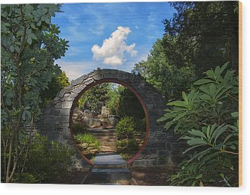 Entering The Garden Gate Wood Print
