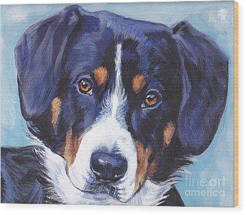 Entlebucher Mountain Dog Wood Print by Lee Ann Shepard