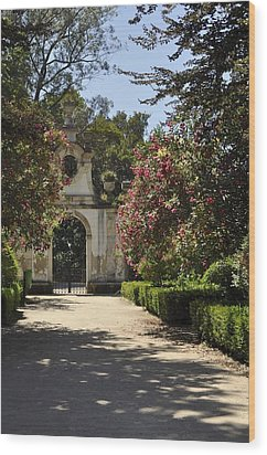 Wood Print featuring the photograph Entrance To A Secret Garden by Sandy Molinaro