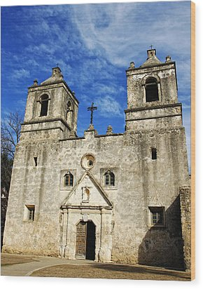 Wood Print featuring the photograph Entrance To Mission Concepcion by Lincoln Rogers