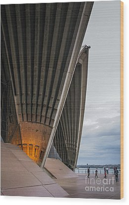 Entrance To Opera House In Sydney Wood Print by Jola Martysz
