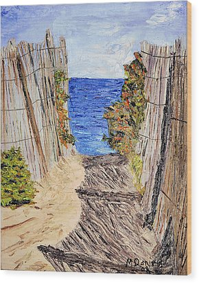 Entrance To Summer Wood Print by Michael Daniels