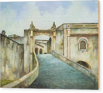 Entry To San Cristobal Wood Print by Monica Linville