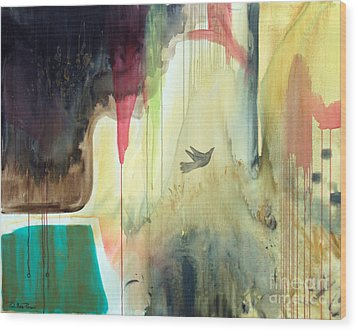 Wood Print featuring the painting Envisage by Robin Maria Pedrero
