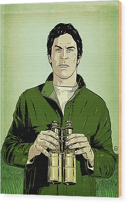 Envy Is Green Wood Print by Giuseppe Cristiano