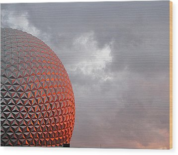 Wood Print featuring the photograph Epcot by Greg Simmons
