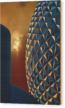 Epcot Wood Print by Kellice Swaggerty