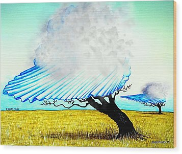 Ephemeral And Brief Wood Print by Paulo Zerbato