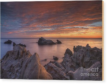 Epic California Sunset Wood Print by Marco Crupi