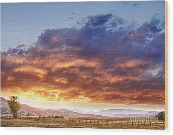 Epic Colorado Country Sunset Landscape Wood Print by James BO  Insogna