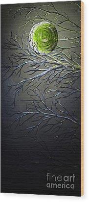 Epic Eclipse Panel 1 Wood Print by Teshia Art