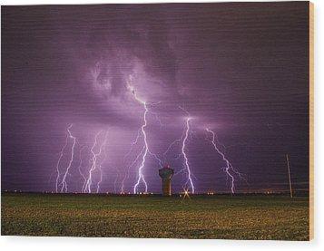 Epic Lightning Wood Print