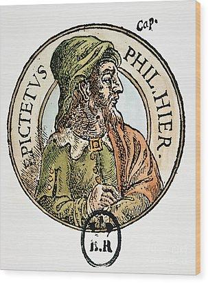 Epictetus Wood Print by Granger