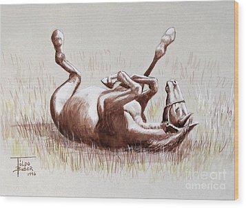 Equine Itch Wood Print