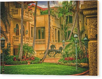 Wood Print featuring the photograph Equine Villa  by Dennis Baswell