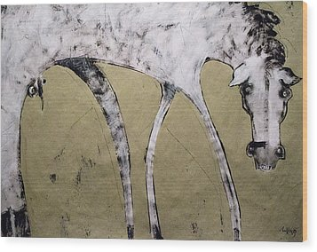 Equos Wood Print by Mark M  Mellon