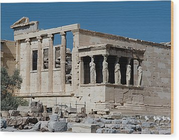 Erechtheion With The Porch Of Maidens Wood Print