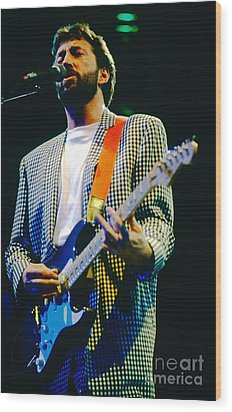 Eric Clapton A1 Wood Print by David Plastik