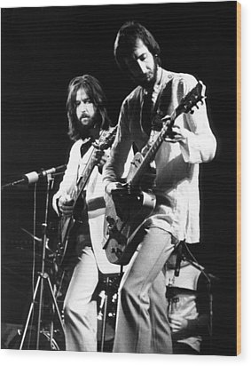 Eric Clapton And Pete Townshend  Wood Print by Chris Walter