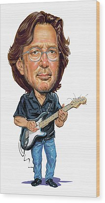 Eric Clapton Wood Print by Art
