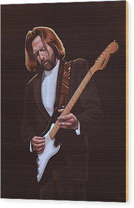 Eric Clapton Painting Wood Print