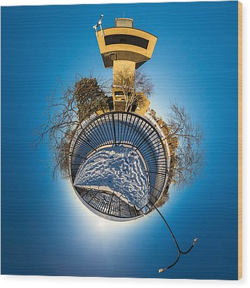 Erie Basin Marina Observation Tower Wood Print