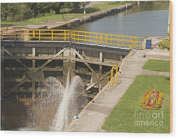 Wood Print featuring the photograph Erie Canal Lock by William Norton