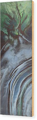 Erosion Wood Print by Carlynne Hershberger