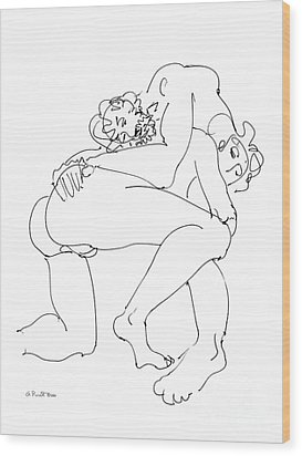 Wood Print featuring the drawing Erotic Art Drawings 14sp by Gordon Punt