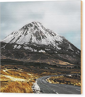 Errigal Donegal Ireland Wood Print by Jane McIlroy