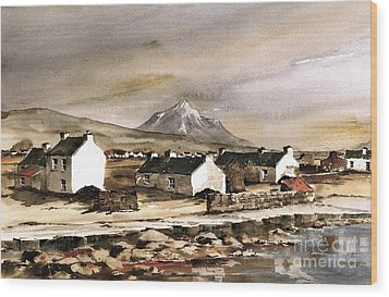 Errigal From Gola Island Donegal Wood Print