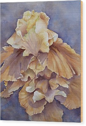 Eruption II--flower Of Rebirth Wood Print by Mary McCullah