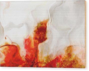 Eruption Wood Print by Jack Zulli