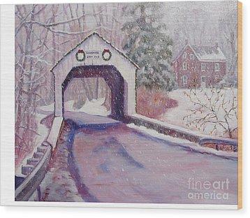 Erwinna Covered Bridge Wood Print