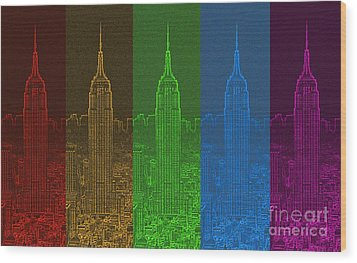 Esb Spectrum Wood Print by Meandering Photography