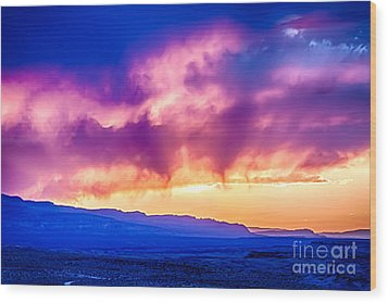 Escalante Sunset 3 Wood Print by Scotts Scapes