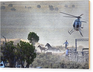 Escape From Butte Valley Trapsite Triple B Wood Print by Afroditi Katsikis