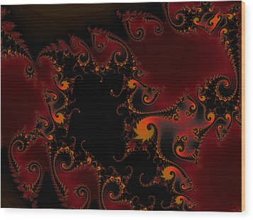 Wood Print featuring the digital art Escape Hatch by Elizabeth McTaggart