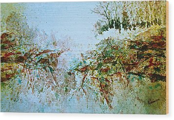 Escarpment Wood Print
