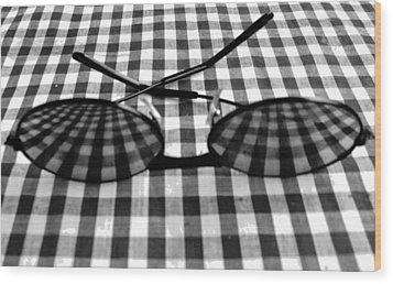 Escher Drops His Glasses By Darryl Kravitz Wood Print by Darryl  Kravitz