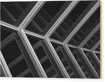 Escher Like Wood Print by Metro DC Photography