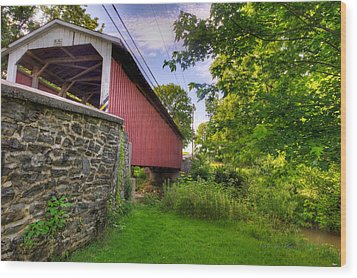 Wood Print featuring the photograph Eshelman's Mill Covered Bridge by Jim Thompson