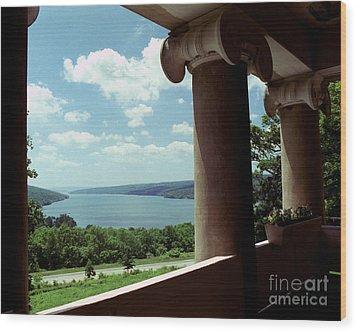 Wood Print featuring the photograph Esperanza Balcony by Tom Brickhouse