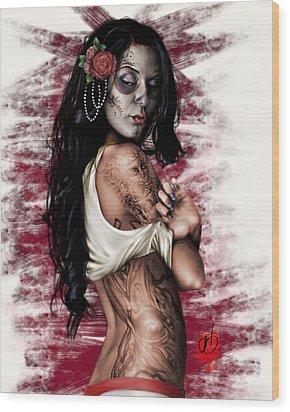 Esperanza Viva Wood Print by Pete Tapang