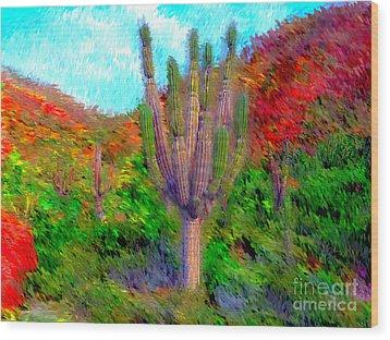 Espiritu Santo Cactus 2 Wood Print