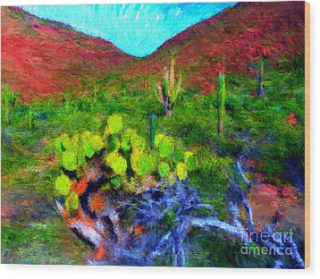 Espiritu Santo Cactus 3 Wood Print