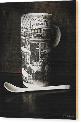 Espresso Wood Print by Sheena Pike