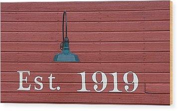 Est 1919 Wood Print
