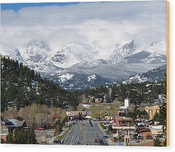 Estes Park In The Spring Wood Print