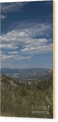 Estes Park In The Valley Wood Print by Kay Pickens